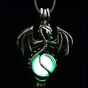 Jewelry - Glow In The Dark Diffuser Dragon Cage Necklace